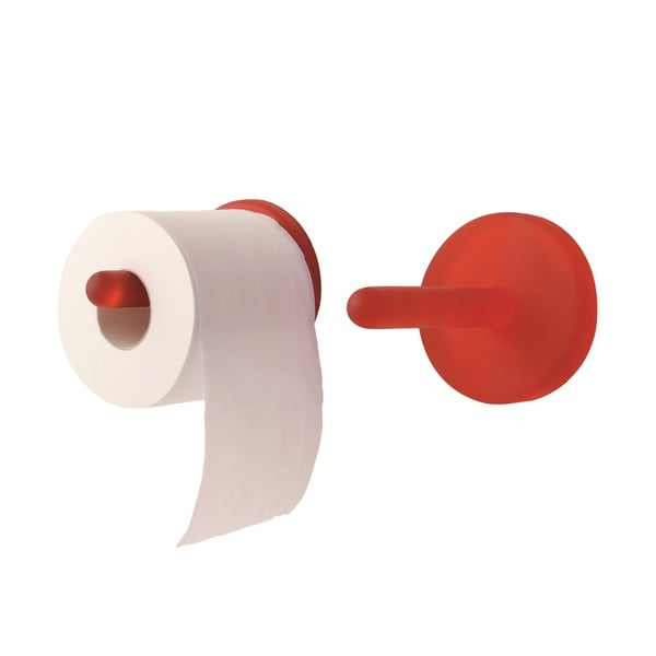 Samodržící držák na toaletní papír Portaro, červený