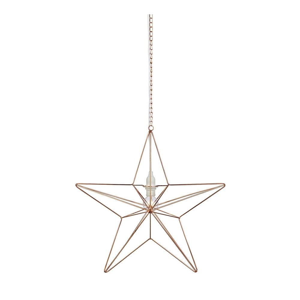 Závěsná svítící dekorace Markslöjd Tjusa Star Copper