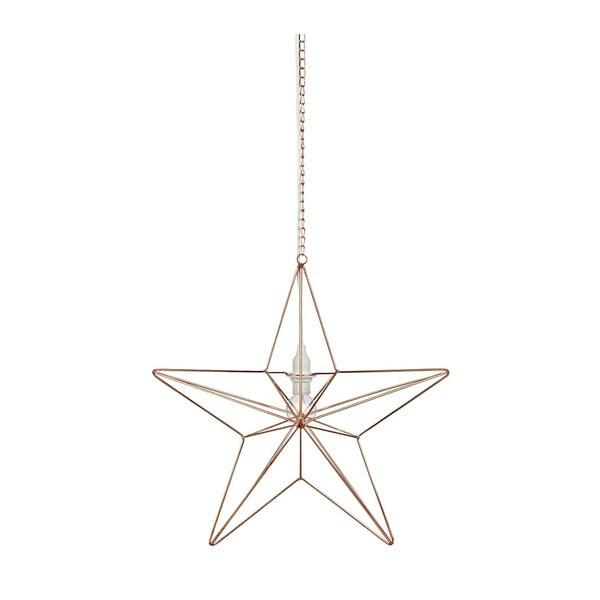Závesná svietiaca dekorácia Markslöjd Tjusa Star Copper