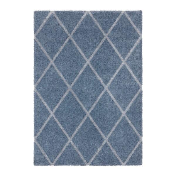 Covor Elle Decor Maniac Lunel, 80 x 150 cm, albastru - gri