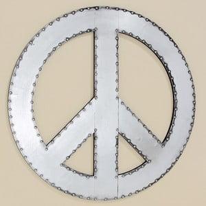 Nástěnná dekorace Peace, 71 cm