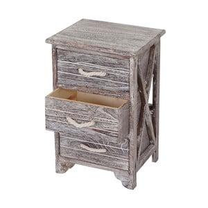 Dřevěná skříňka se 3 šuplíky  Mendler Shabby Pitea