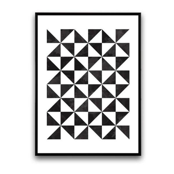 Plakát v dřevěném rámu Laevis, 38x28 cm