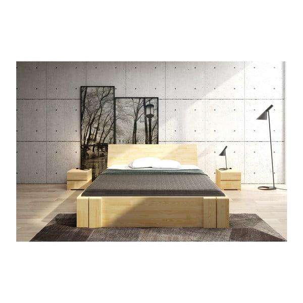 Pat dublu din lemn de pin, cu sertar, SKANDICA Vestre Maxi, 160 x 200 cm