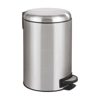 Coș de gunoi cu pedală Wenko Leman, 12 l, argintiu imagine