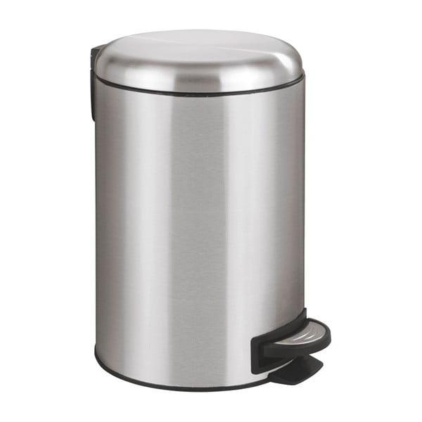 Coș de gunoi cu pedală Wenko Leman, 12 l, argintiu