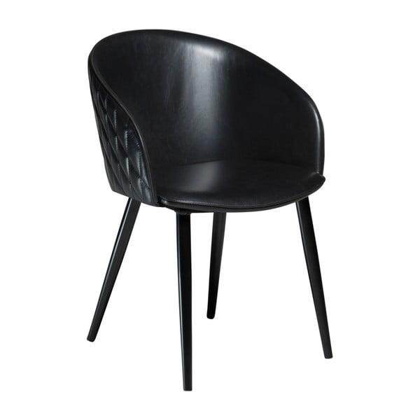 Czarne krzesło ze skóry ekologicznej DAN-FORM Denmark Dual