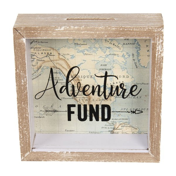 Pojemnik drewniany na herbaty ekspresowe Clayre & Eef Adventure Fund