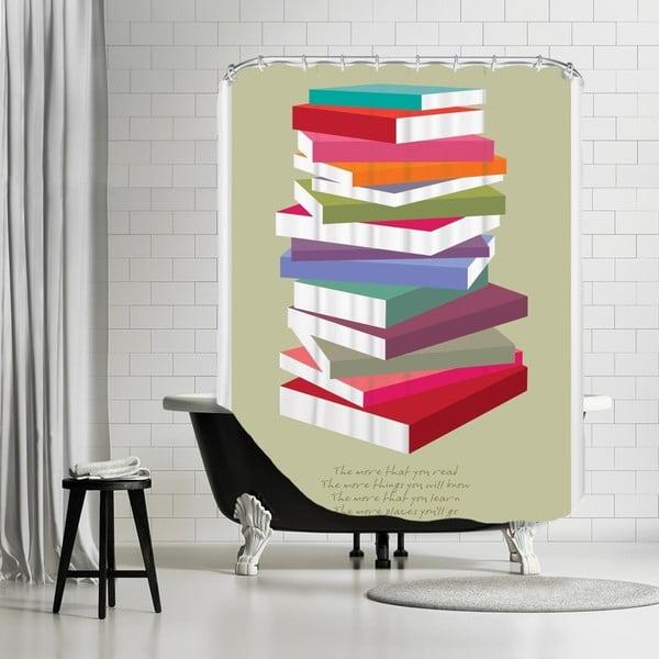 Koupelnový závěs Dr Suess Books Pile, 180x180 cm
