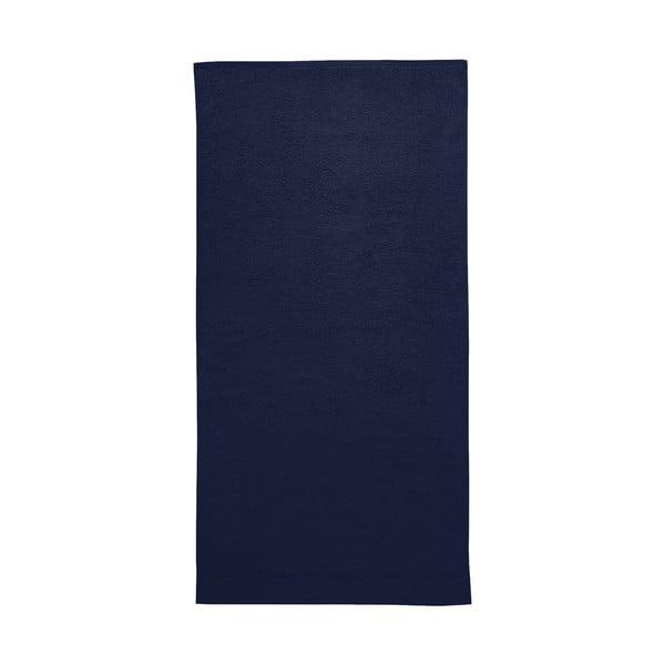 Tmavě modrá osuška Seahorse Pure, 70x140cm