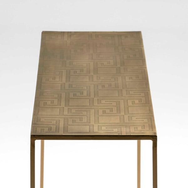 Konzolový stolek ve zlaté barvě Thai Natura Snailly, délka102cm
