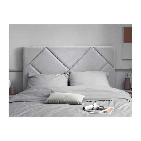 Světle šedé čelo postele HARPER MAISON Annika, 140 x 120 cm