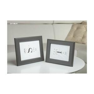 Tmavě šedý rámeček na fotografii Styler Malmo, 30x40cm