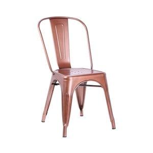 Židle v měděné barvě Leitmotiv Dazzle