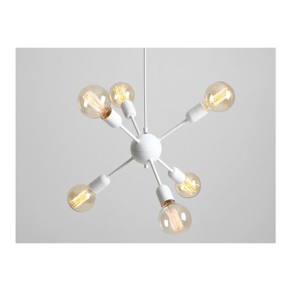 Bílé závěsné světlo pro 6 žárovek Custom Form Vanwerk Ball