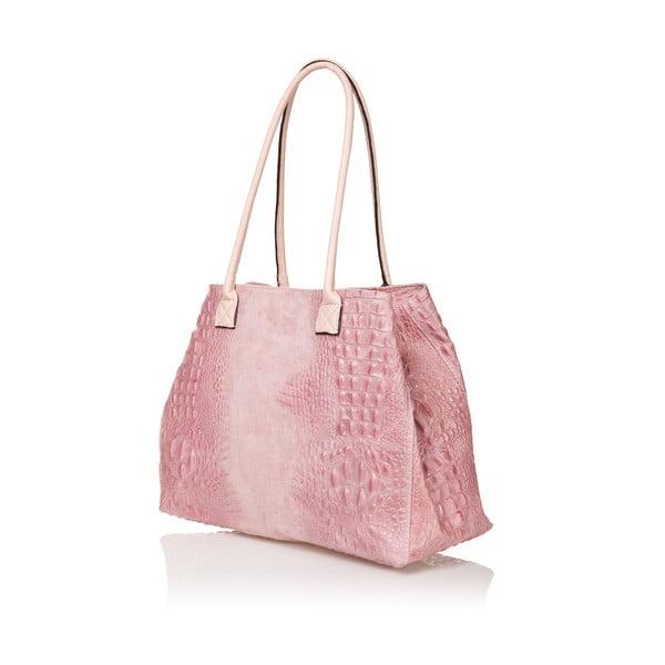 Kožená kabelka Anabela, růžová