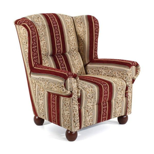 Czerwony fotel wkwiaty Max Winzer Monarch Chenille
