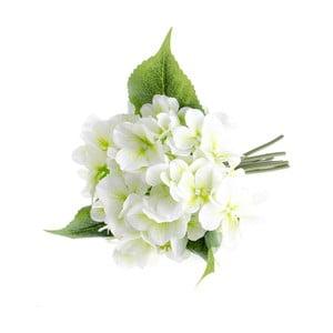 Bílá umělá květina ve stylu hortenzie Dakls