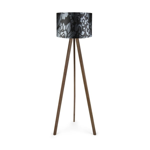 Voľne stojacia lampa s čiernym tienidlom Polly Lille