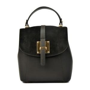 Černý kožený batoh Carla Ferreri Muro Gerro