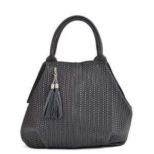 Černá kožená kabelka Mangotti Bags Betania
