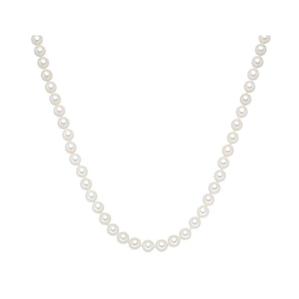 Náhrdelník s bílými perlami Perldesse Muschel, ⌀0,8xdélka90cm