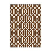 Ručně tkaný koberec Camila Brown, 155x240 cm