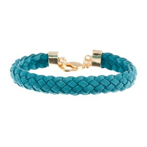 Náramek Strand braided gold, light blue