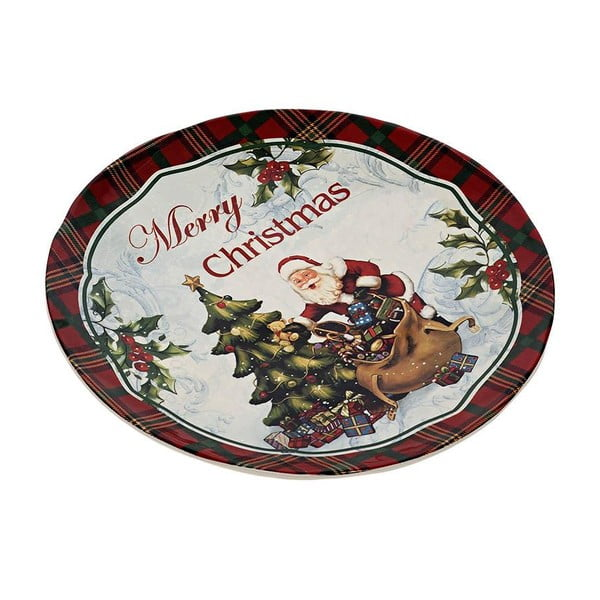 Keramický talíř Merry Xmas, 25 cm