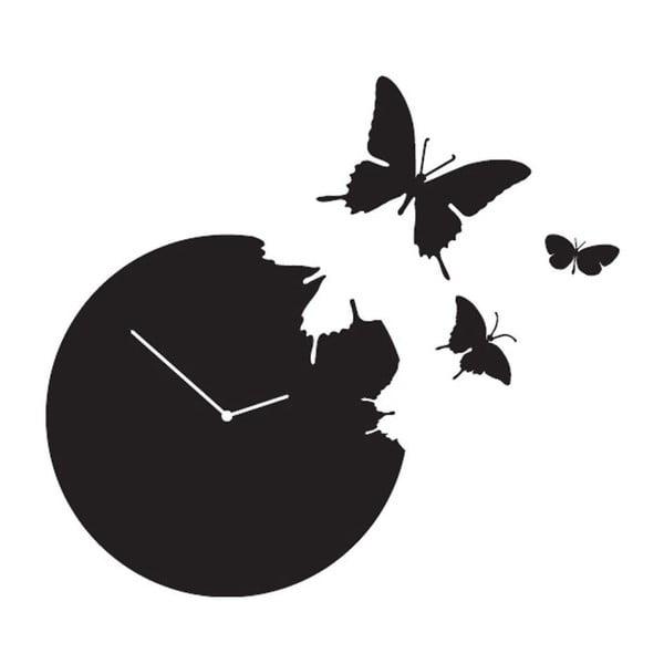Designové hodiny Butterfly Black, 40 cm