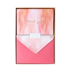 Set 10 felicitări cu plic  Portico Designs FOIL Evening