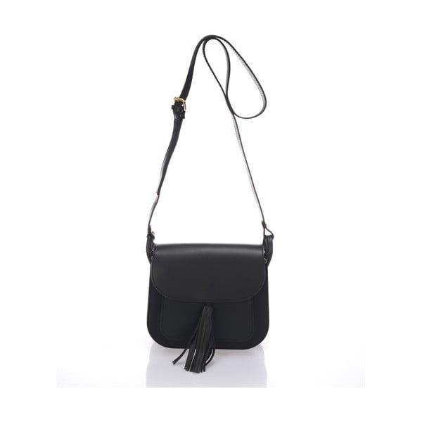 Černá kožená kabelka Lisa Minardi Bycast