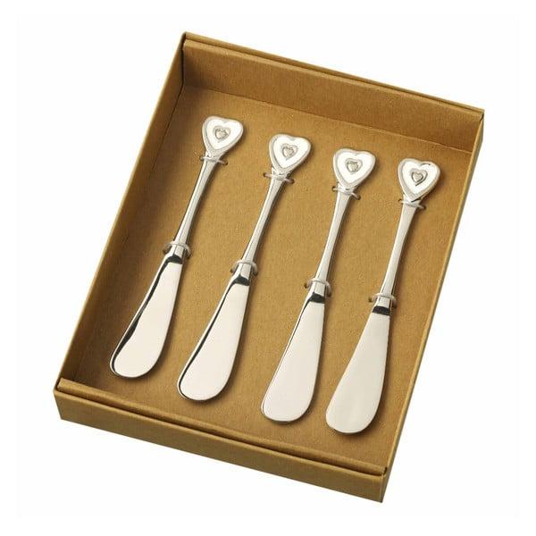 Sada 4 nožů na máslo Parlane Heart