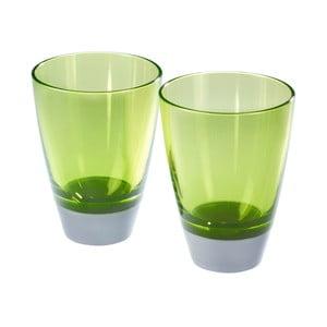 Sada 2 zelených sklenic Entity