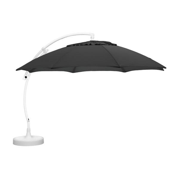 Antracitově šedý závěsný slunečník Brafab Easy Sun, ∅375cm