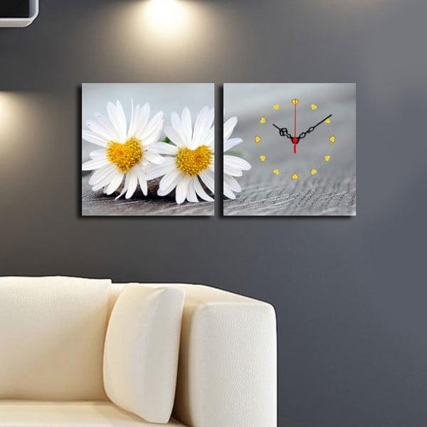 Obrazové hodiny Kopretinky