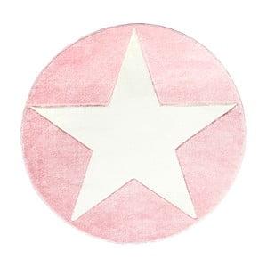 Růžový dětský koberec Happy Rugs Round, Ø133cm