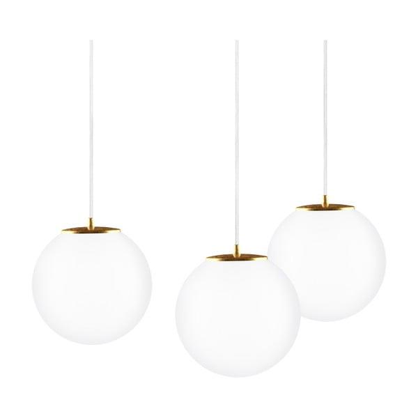 Trojité světlo TSUKI Elementary, matná opálová/zlatá/bílá/bílá
