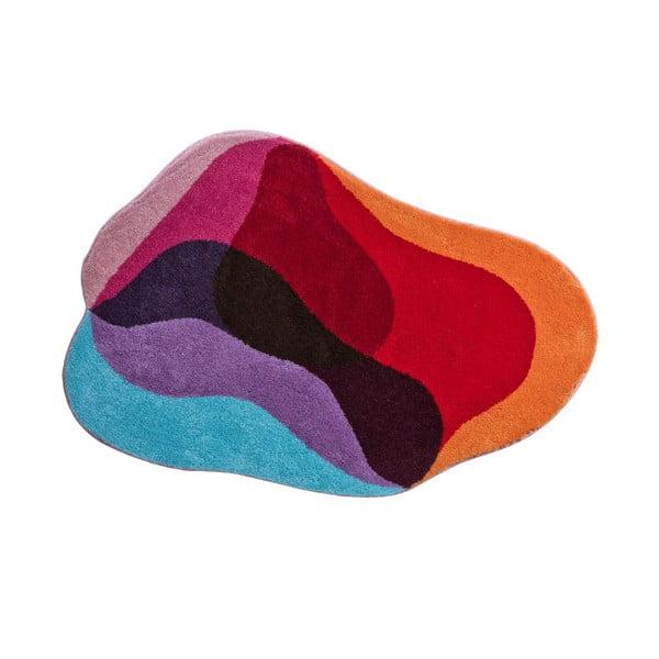 Koupelnová předložka Kolor My World XXI 90x130 cm, červenomodrá