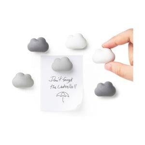Sada 6 kusů magnetů Qualy&CO Cloud Magnets