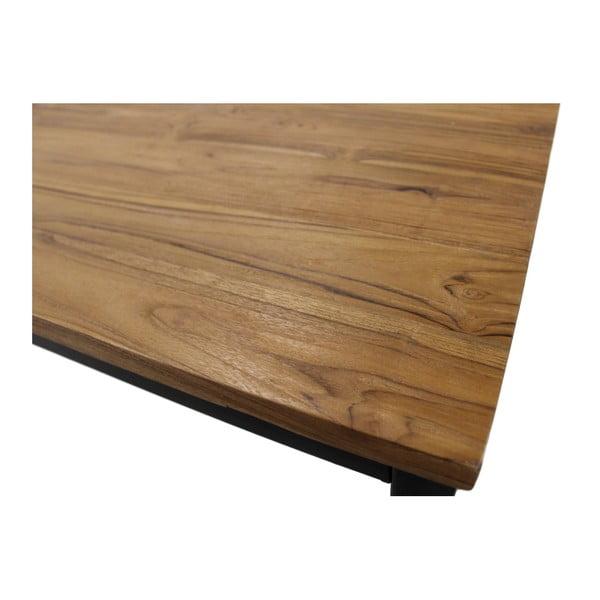 Jídelní stůl z teakového dřeva a kovu HSM collection, 200 x 100 cm