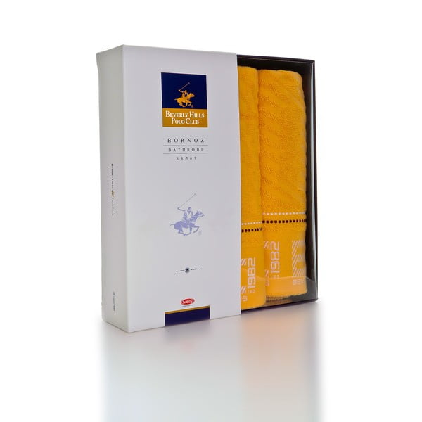 Sada ručníků 50x100 a 150x80 cm, žlutá