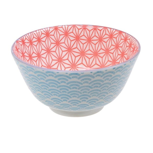 Modro-červená porcelánová miska Tokyo Design Studio Star, ⌀ 12 cm