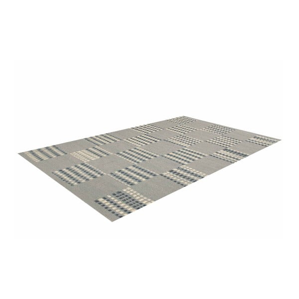 Vlněný koberec Kilim Chess Box, 140x200 cm