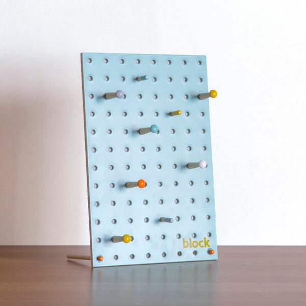 Multifunkční nástěnka Pegboard 30x20 cm, modrá