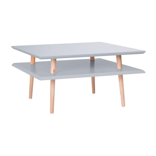 Tmavě šedý konferenční stolek Ragaba Square, 68x68cm