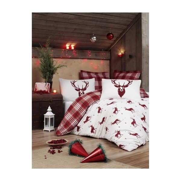 Emily karácsonyi, kétszemélyes ágyneműhuzat lepedővel, 200 x 220 cm