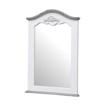 Oglindă de perete din lemn de plop cu detalii naturale Livin Hill Rimini, 60 x 85 cm, alb imagine