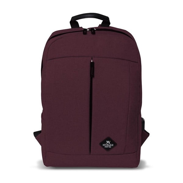 Rucsac cu port USB My Valice GALAXY Smart Bag, vișiniu închis