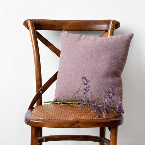 Ciemnoróżowa lniana poszewka na poduszkę Linen Tales, 45x45 cm